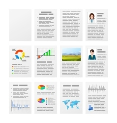 Set of typical office documents on white vector