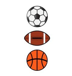 Sport Balls SoccerFootball Basketball vector image vector image