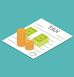 Tax refund icon vector