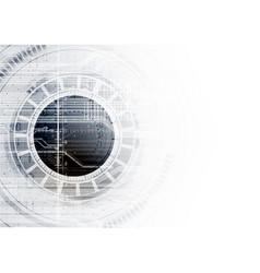 Technological communication digital modern circle vector