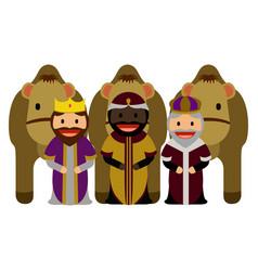 three wise men vector image