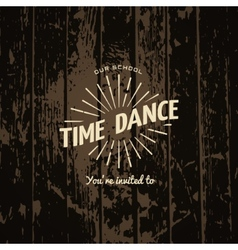 Time dance badges logos and labels for any use vector