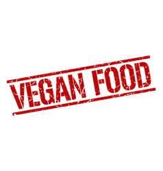 vegan food stamp vector image