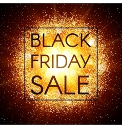 Black friday sale banner on abstract background vector