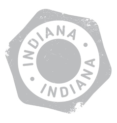 Indiana stamp rubber grunge vector