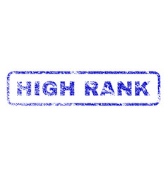 high rank rubber stamp vector image