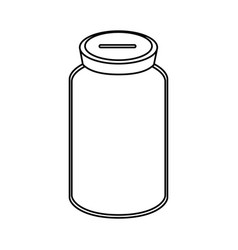 Line glass bottle to save cash money vector