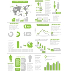 Infographic demographics new style green vector