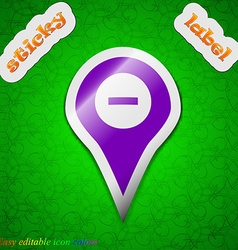 Minus map pointer gps location icon sign symbol vector