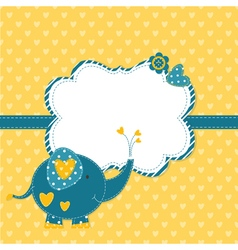 Baby shower with cute elephant 3 vector image