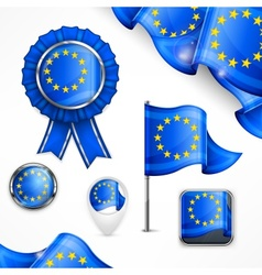 European national symbols vector image