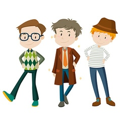 Men in different poses vector