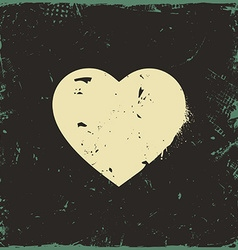 Rustic love heart vector