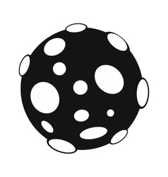 Moon black simple icon vector image