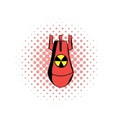 Atomic red bomb comics icon vector