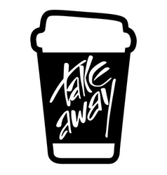 take away lettering vector image