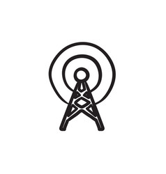 Antenna sketch icon vector