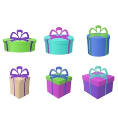 boxes multi-coloured different forms vector image