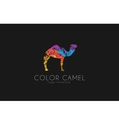 Camel logo Color camel logo design Animal logo vector image vector image