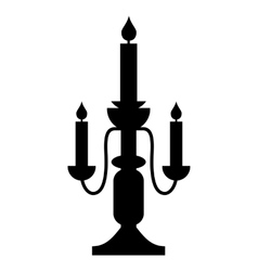 Candlestick lamp simple icon vector