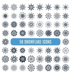 Collection of elegante stylish snowflakes isolated vector image vector image