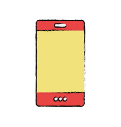 color smartphone technology to call and talk vector image