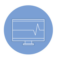 Computer display with cardiology app vector