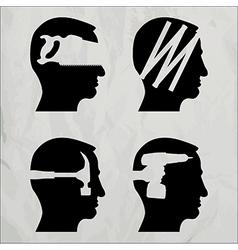 Diy heads vector