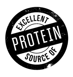 Excellent source of protein stamp vector