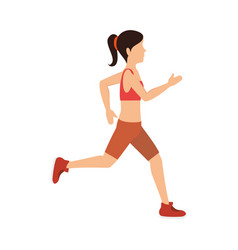 Female athlete running avatar character vector