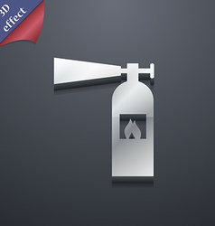 Fire extinguisher icon symbol 3d style trendy vector