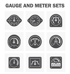 Gauge meter2 vector image vector image