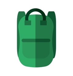 Green bag school pupil shadow vector