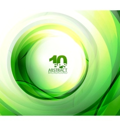 green eco wave vector image vector image