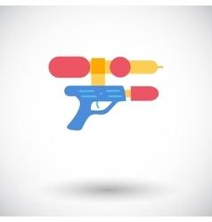Gun toy icon vector
