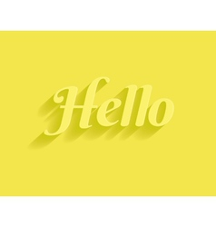 Hello message vector image vector image