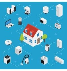 Home Appliances Isometrics Composition vector image