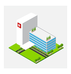 Isometric medium hospital healty and medical vector