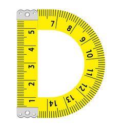 Letter d ruler icon cartoon style vector
