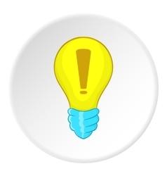 Light bulb idea icon cartoon style vector image vector image