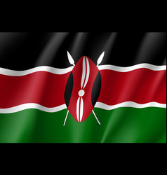 national flag of kenya vector image