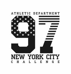new york city athletic department american flag vector image vector image