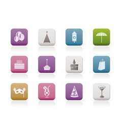 party and holidays icons vector image vector image