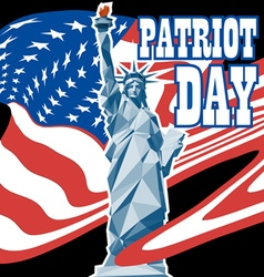 Patriot day card with the flag of unites states of vector image