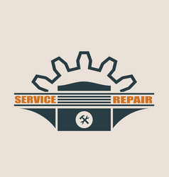 Piston icon design element for branding vector