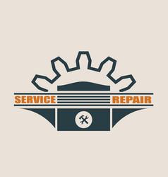 piston icon design element for branding vector image
