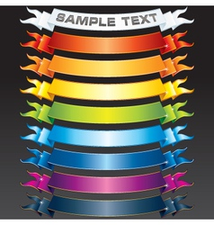 set of multicolored ribbons vector image vector image