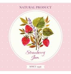Strawberry floral design element vector