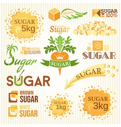 Sugar decoration set vector image vector image