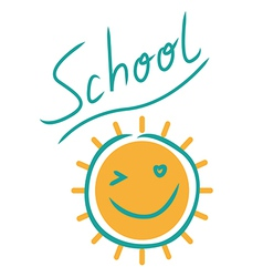 Sunny school sign vector
